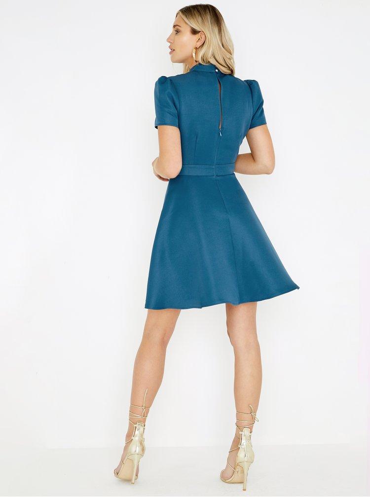 Modré šaty s krajkou Little Mistress