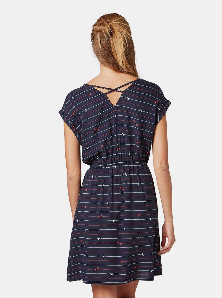 Rochie albastru inchis cu imprimeu Tom Tailor Denim