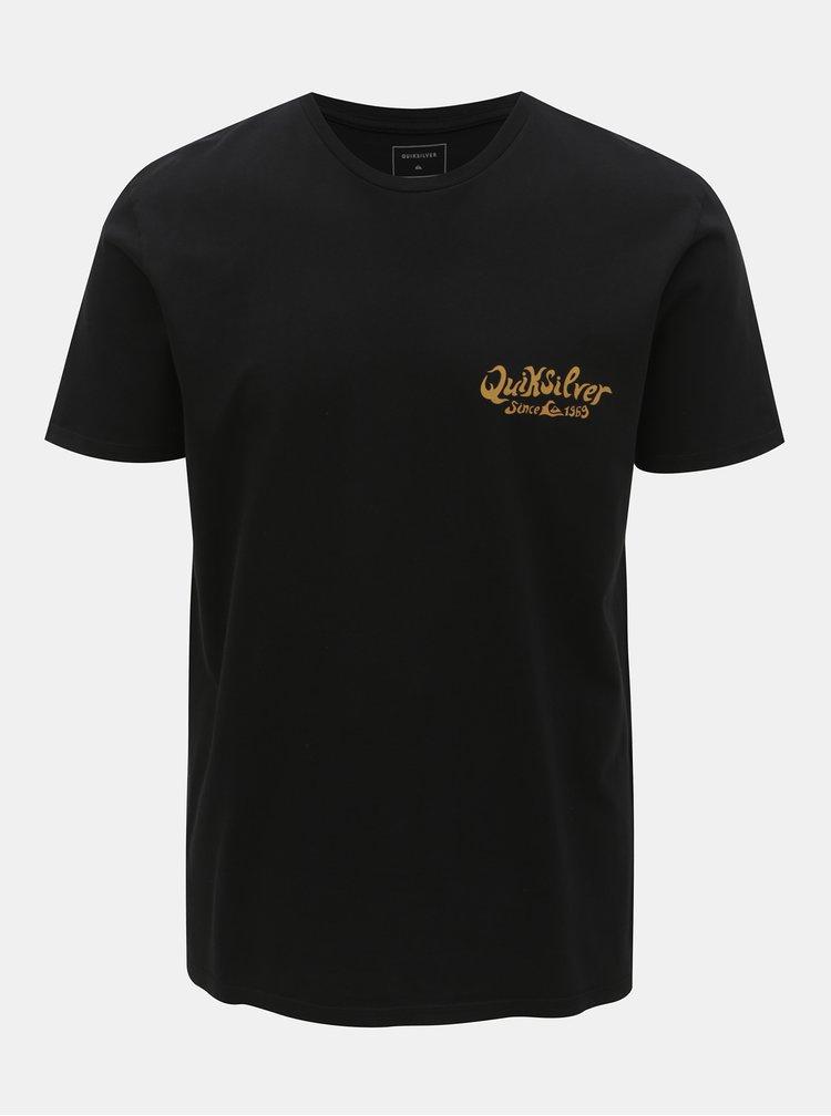 Černé modern fit tričko s potiskem na zádech Quiksilver