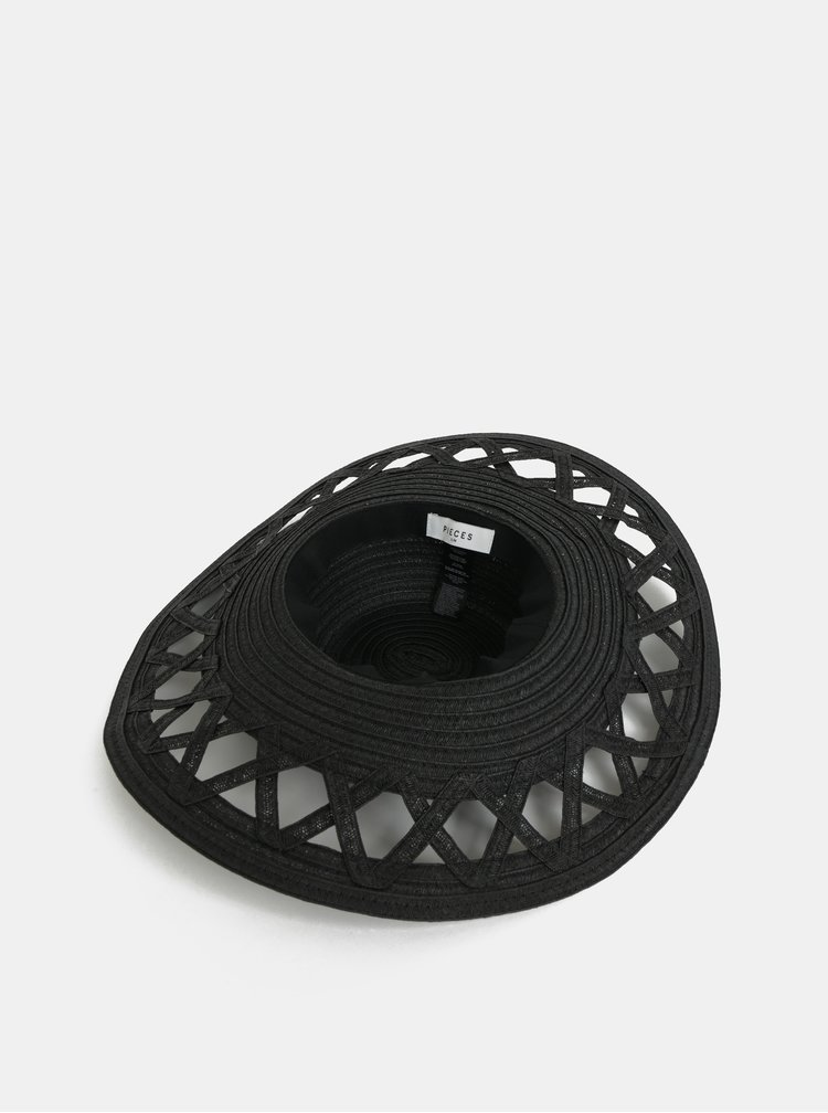 Černý klobouk Pieces Bea