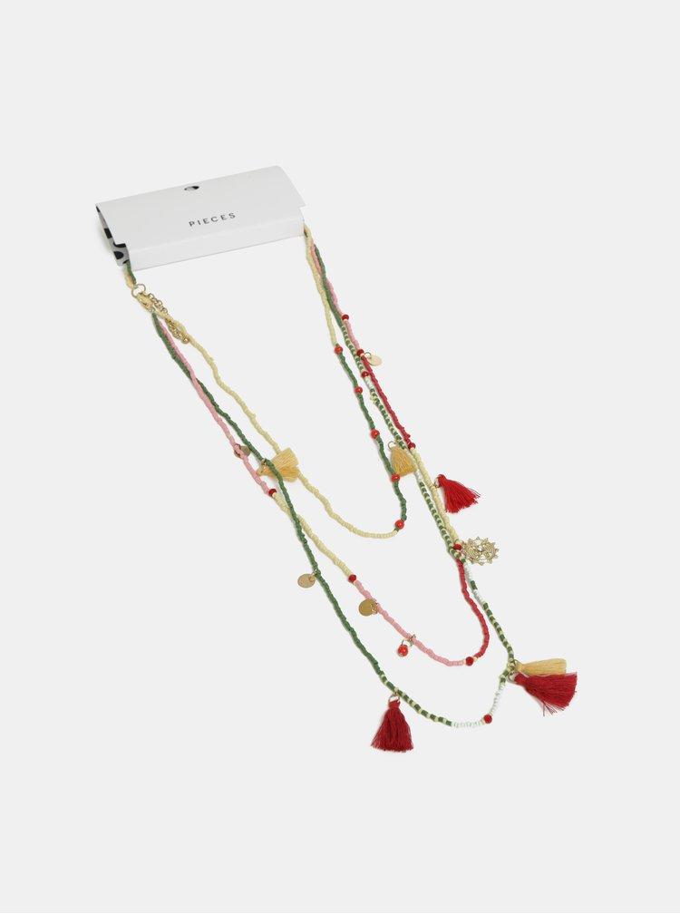 Červeno-zelený náhrdelník Pieces Benina