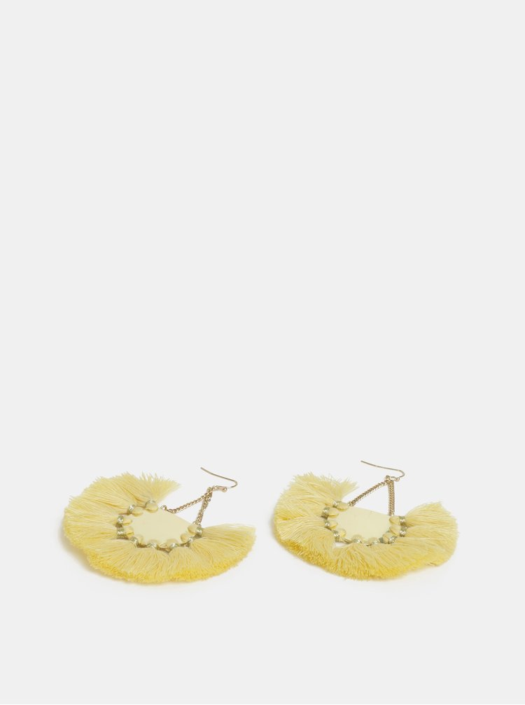 Žluté náušnice Pieces Blanka