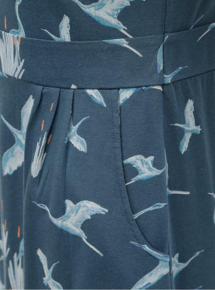 Modré vzorované šaty Brakeburn Heron Placket