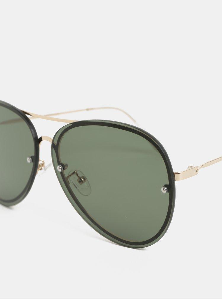 Sluneční brýle ve zlaté barvě Pieces Becki