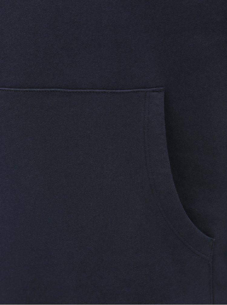 Hanorac albastru inchis cu imprimeu Jack & Jones Jeans