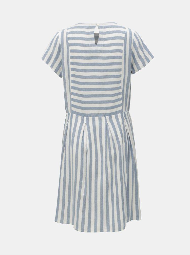 Bílo-modré pruhované šaty Brakeburn Woven