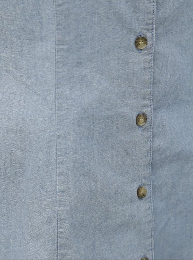 Světle modré džínové šaty VERO MODA Samantha