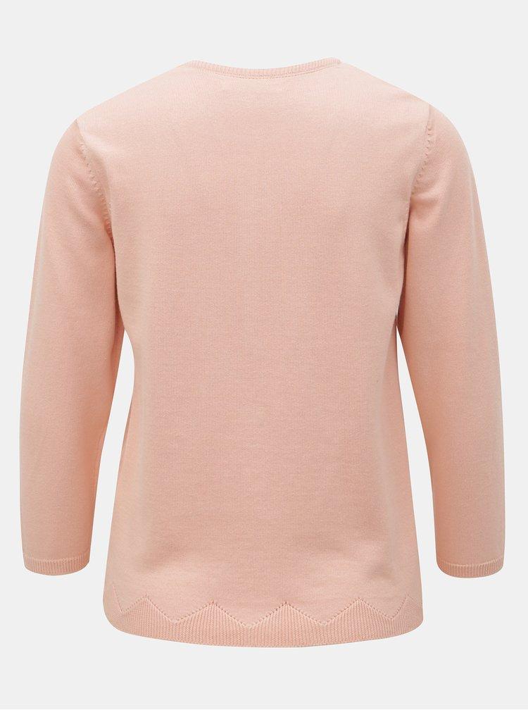 Světle růžový basic kardigan Brakeburn Pointelle