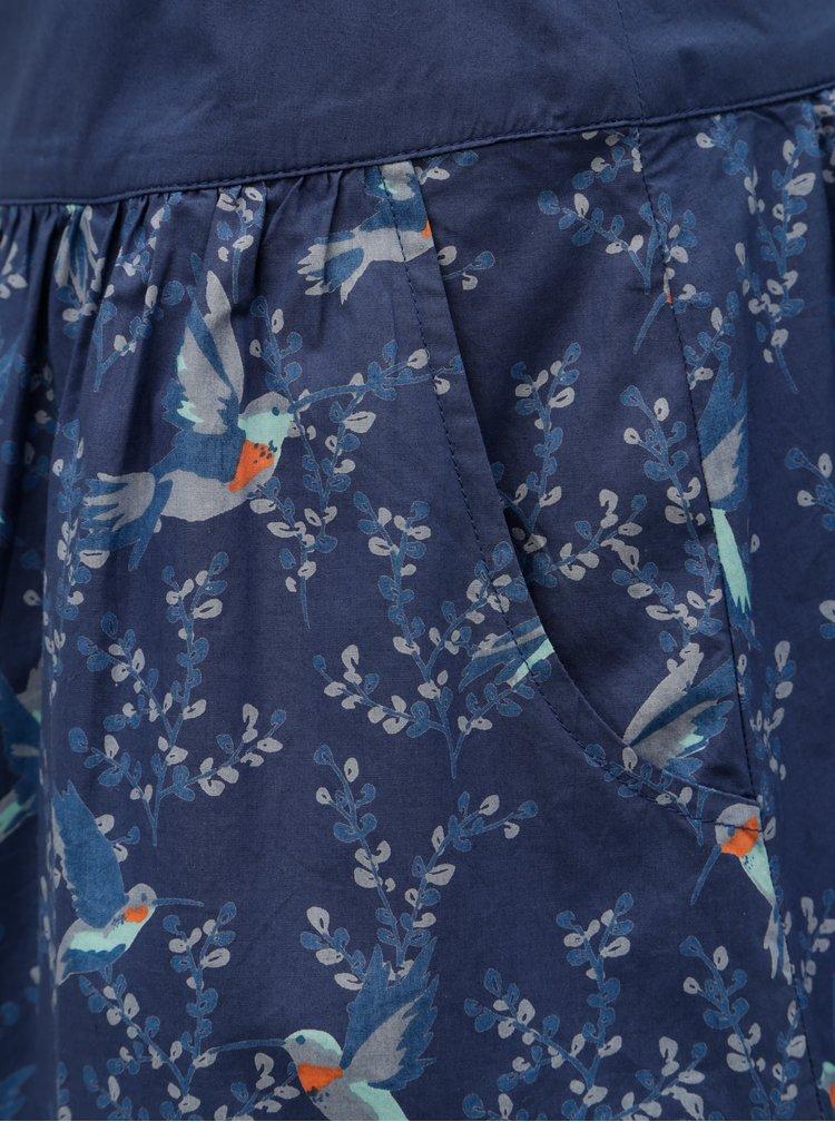 Fusta albastra cu model Brakeburn Hummingbird