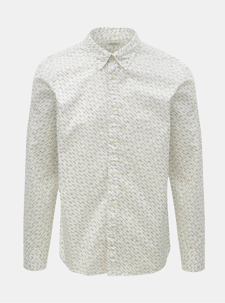 Bílá vzorovaná slim fit košile Selected Homme Matt