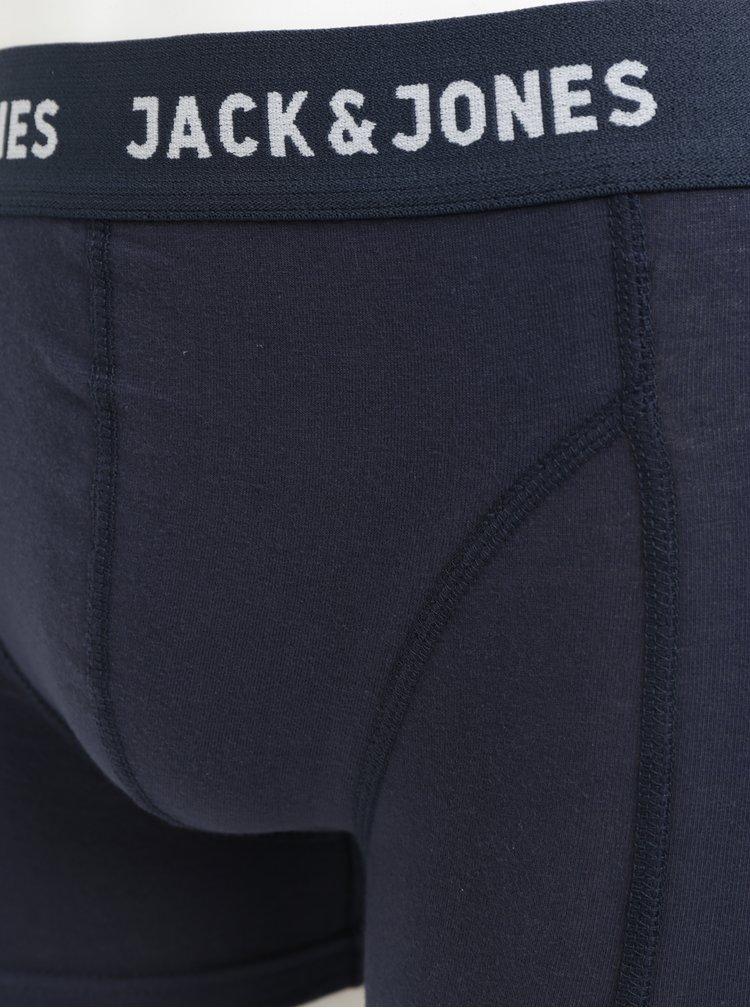 Balenie troch boxeriek v čiernej, modrej a sivej farbe Jack & Jones Canthony