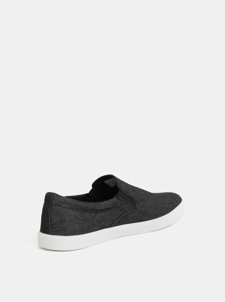 Pantofi slip on negri Jack & Jones Rowden