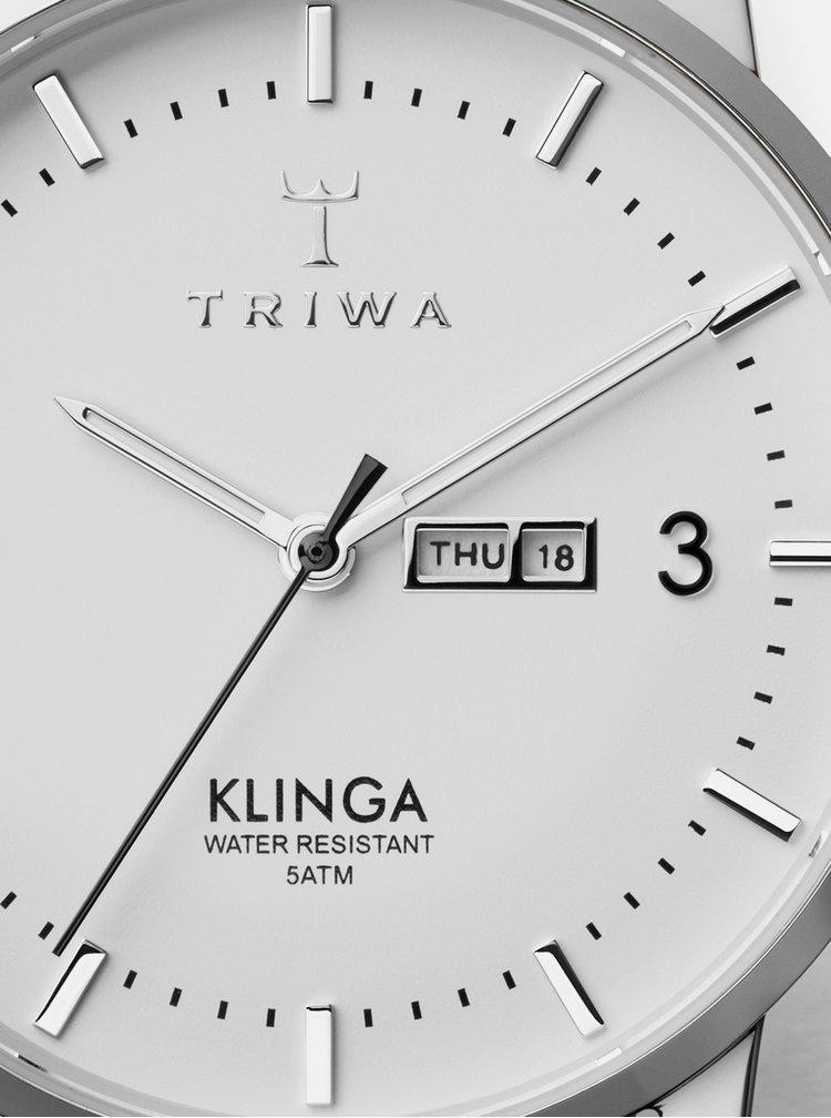 Hodinky s hnedým koženým remienkom TRIWA Klinga
