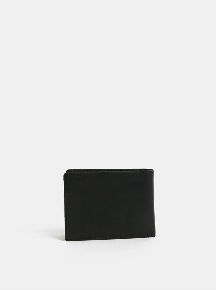 Portofel barbatesc negru din piele NUGGET Attitute