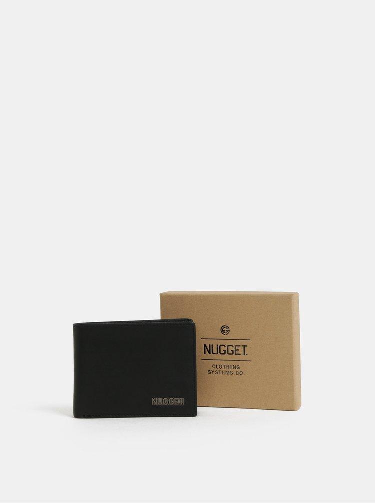 Černá pánská kožená peněženka NUGGET Attitute