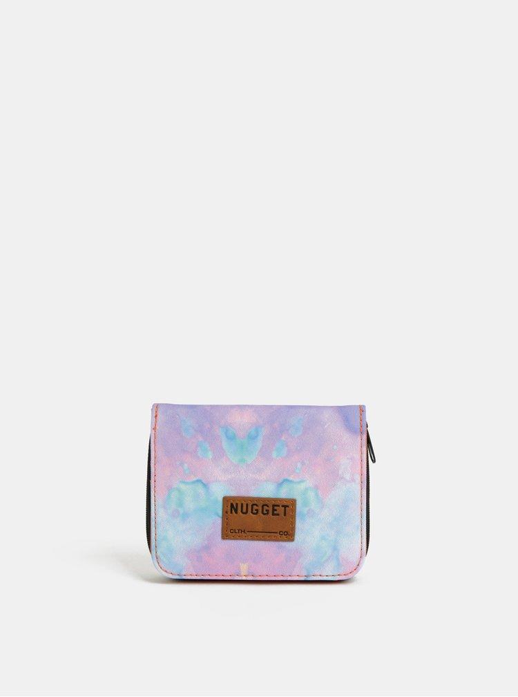 Ružovo–marhuľová dámska vzorovaná peňaženka NUGGET Alicia