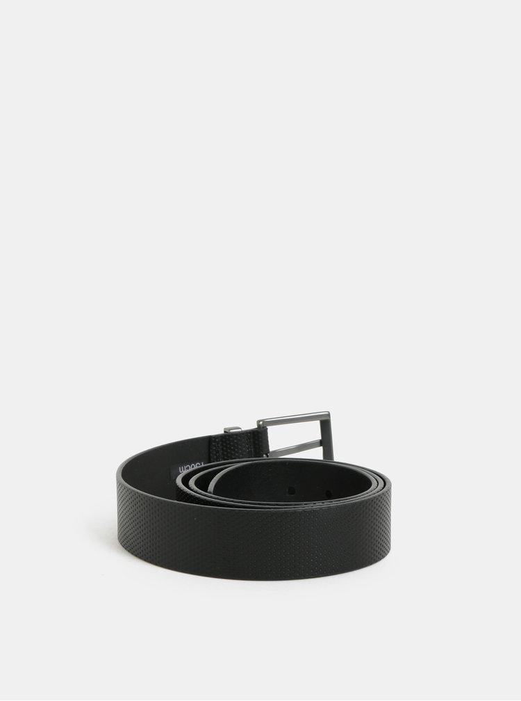Černý kožený pásek Meatfly