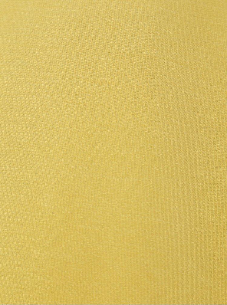 Žluté basic midišaty VERO MODA AWARE Gava
