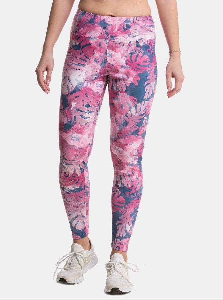 Růžové dámské vzorované legíny Meatfly Xena