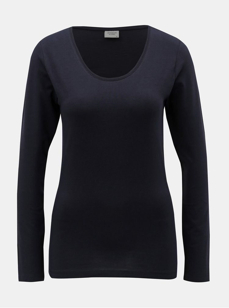 Tmavomodré basic tričko Jacqueline de Yong Ava