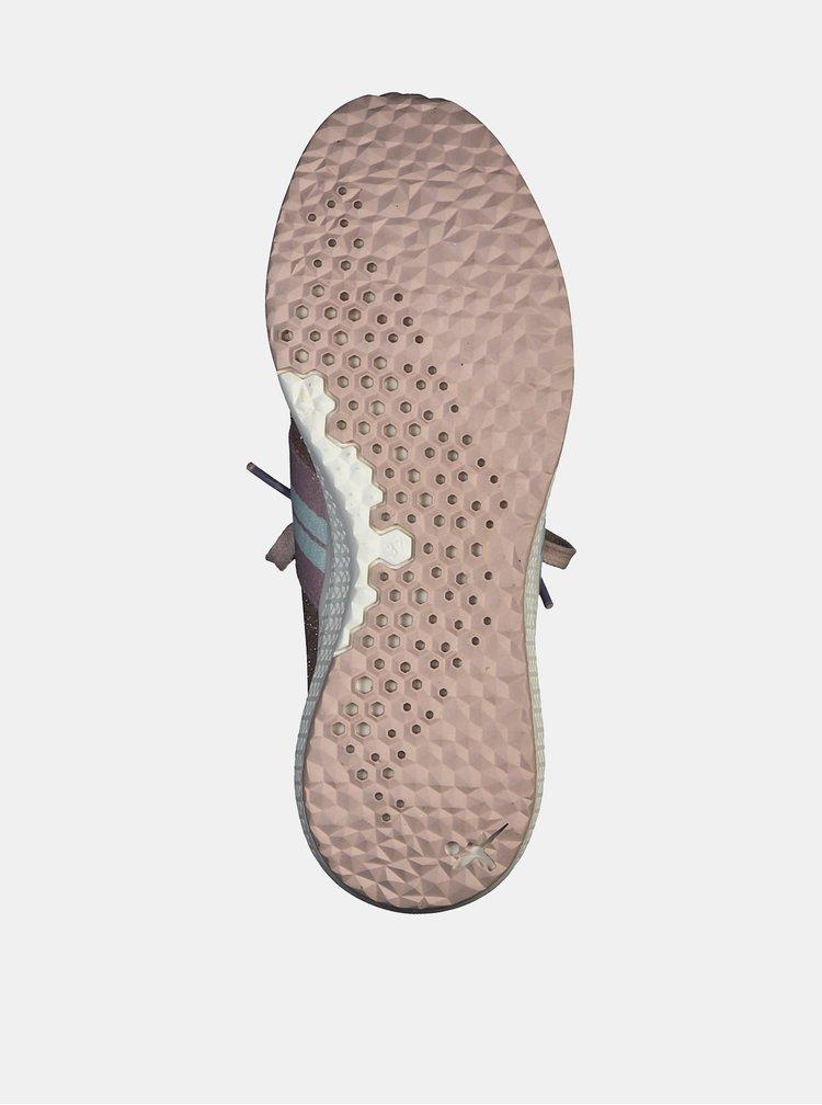 Ružové trblietavé tenisky so semišovými detailmi Tamaris