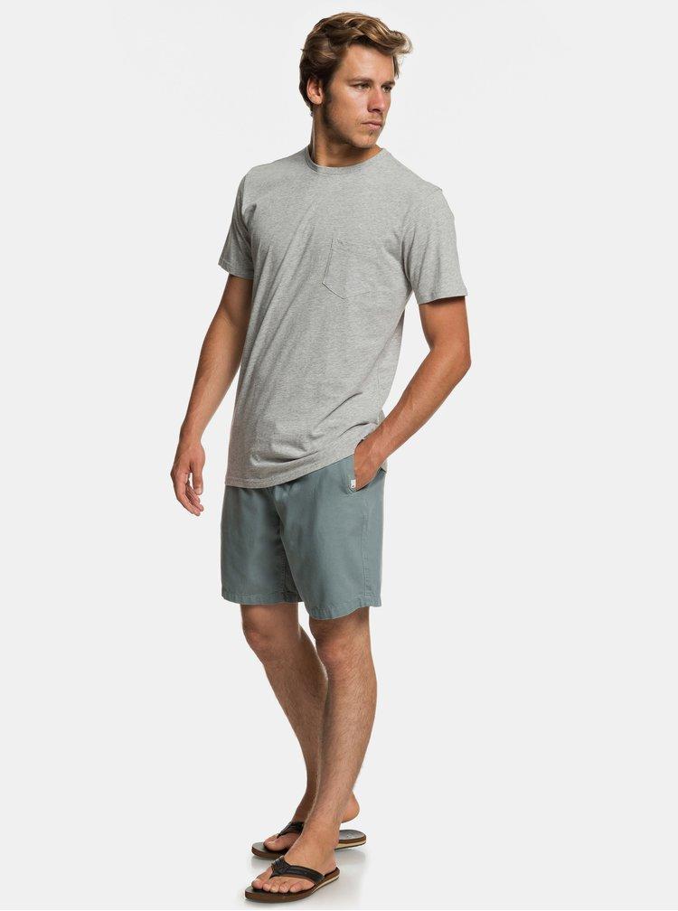 Pantaloni scurti verzi cu detalii din material reiat Quiksilver