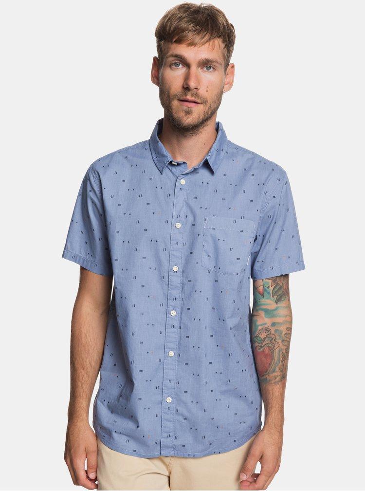 Světle modrá modern fit košile s drobným vzorem Quiksilver