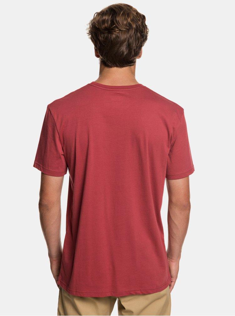 Červené regular fit tričko s potiskem Quiksilver