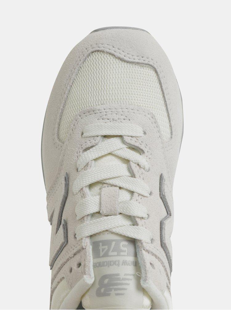 Krémové dámské semišové tenisky New Balance 574