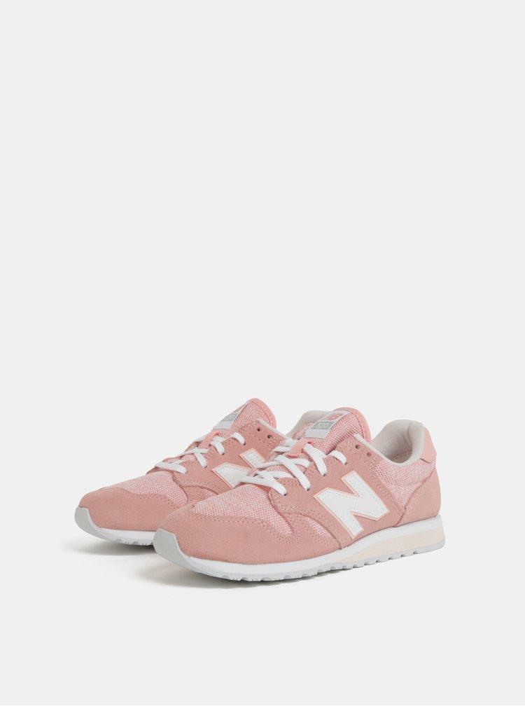 Růžové dámské semišové tenisky New Balance 520