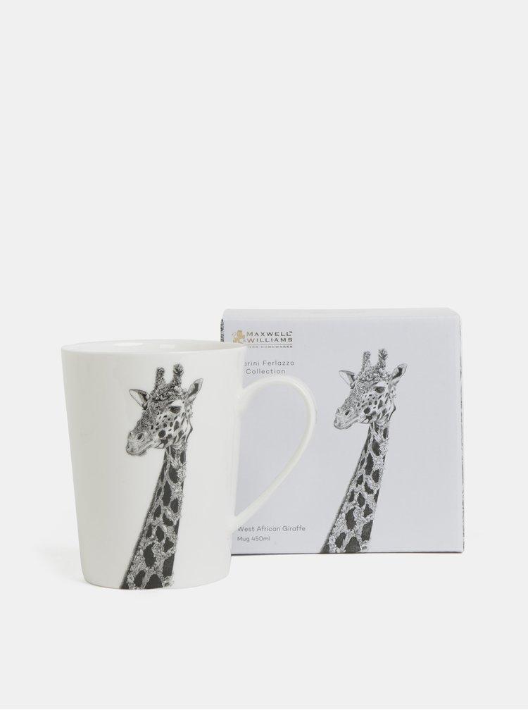 Cana alba din portelan cu motiv girafe Maxwell & Williams