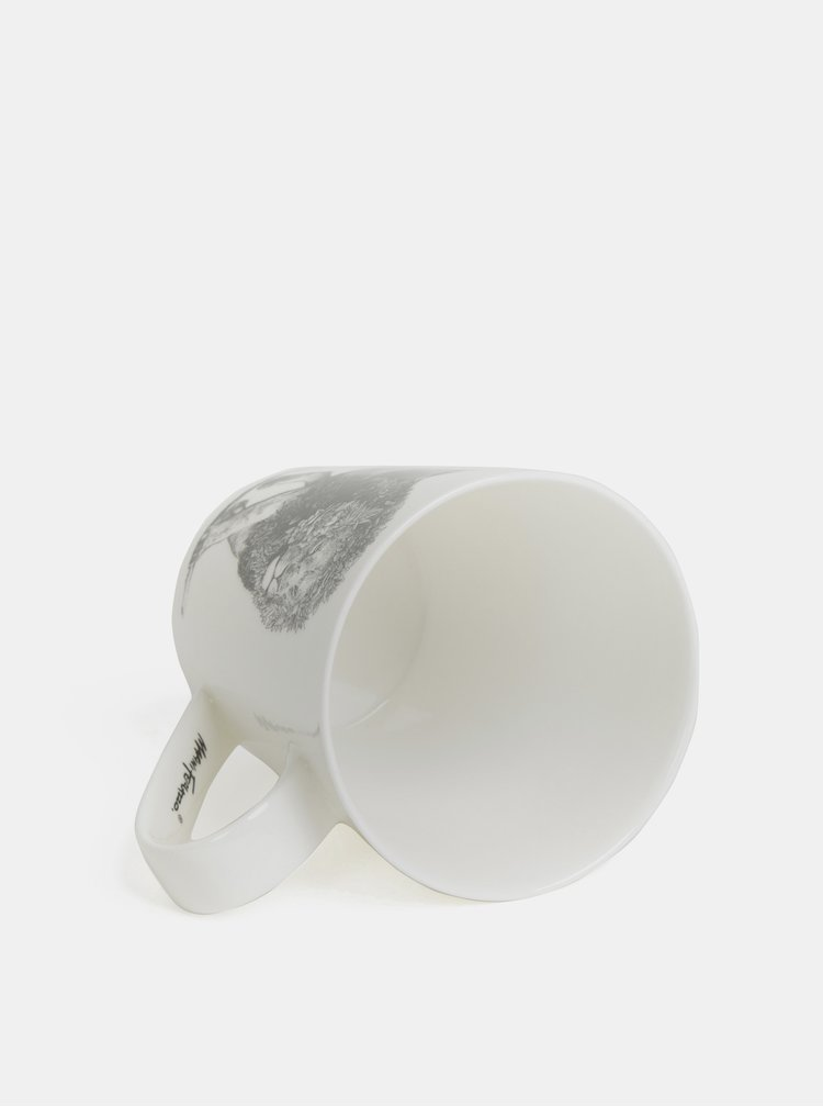 Biely porcelánový hrnček s motívom leva Maxwell & Williams