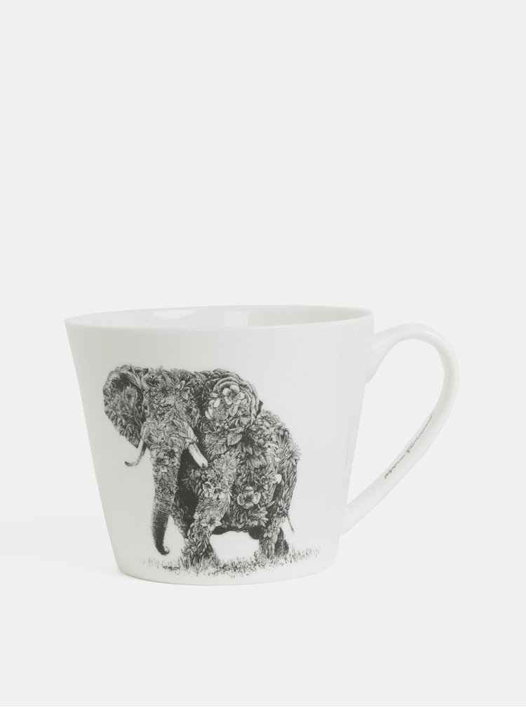 Cana alba din portelan cu motiv elefant Maxwell & Williams