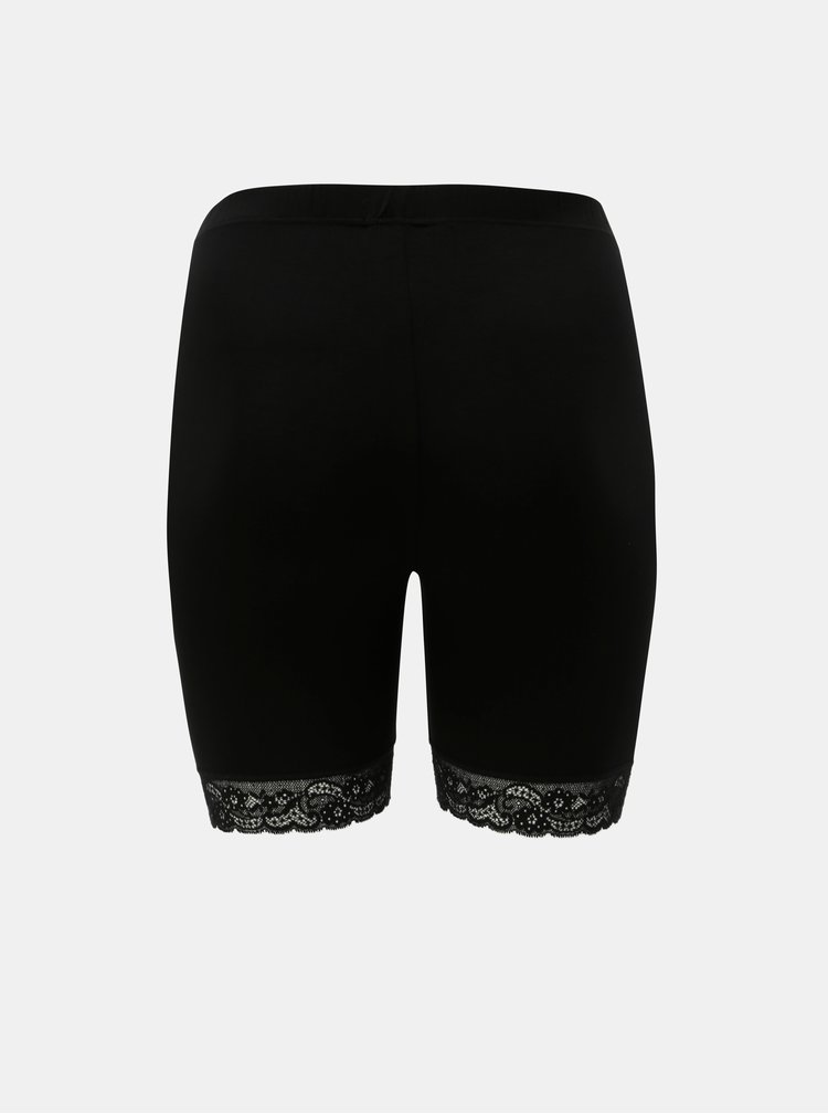 Pantaloni scurti negri lejeri Zizzi