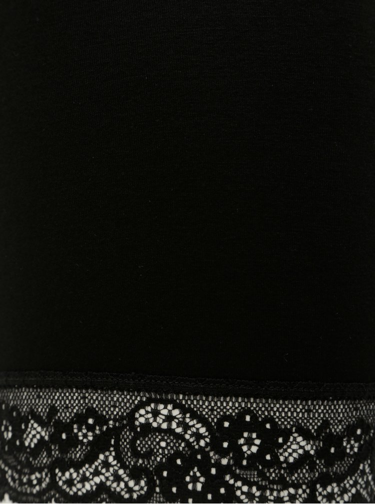 Čierne tenké kraťasy Zizzi