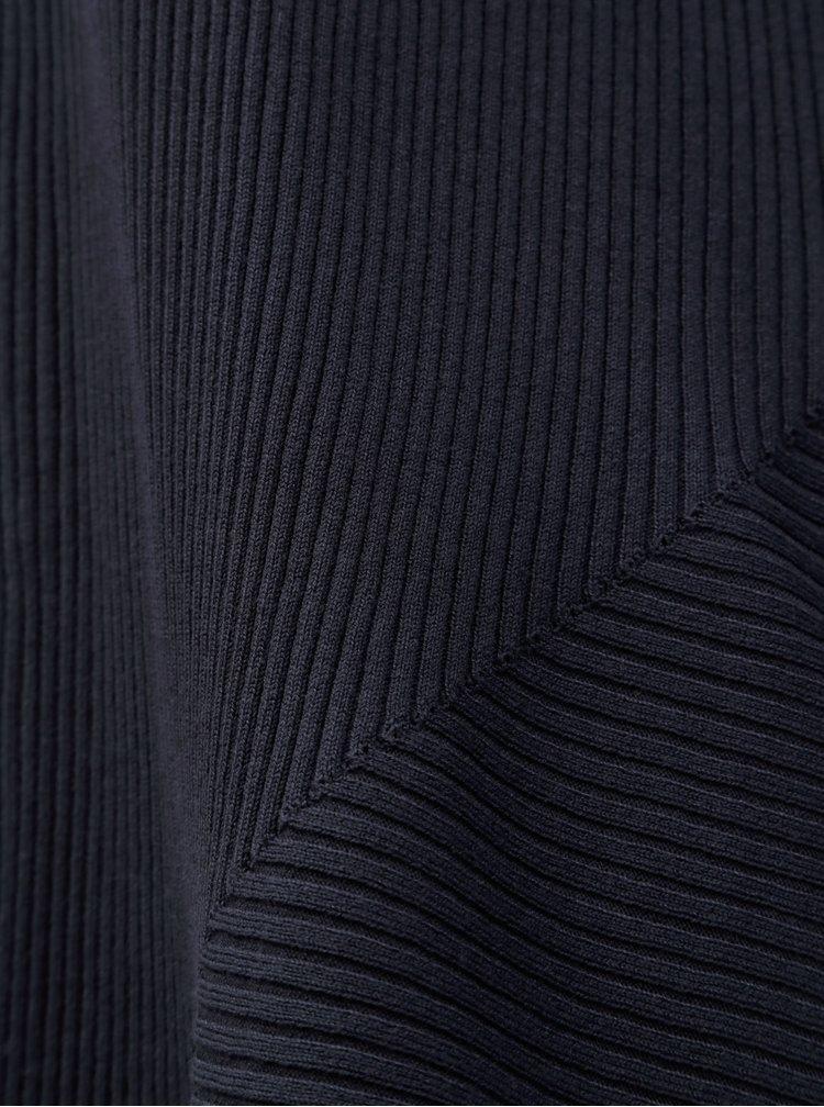 Tmavě modrý žebrovaný kardigan Zizzi Sisy