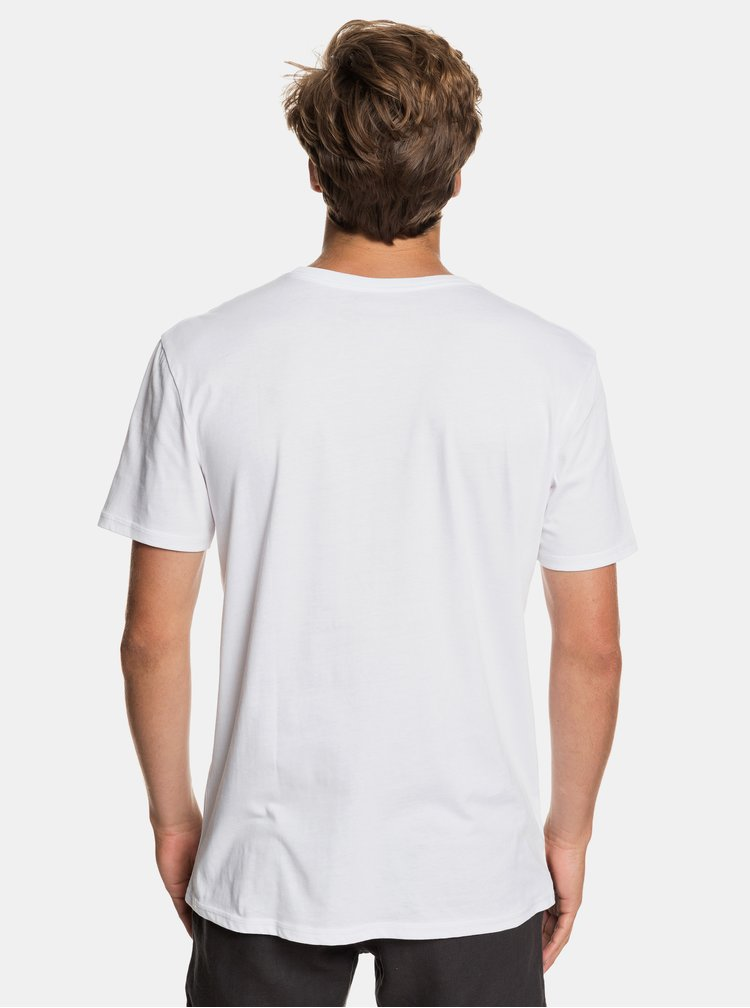 Bílé regular fit tričko s potiskem Quiksilver