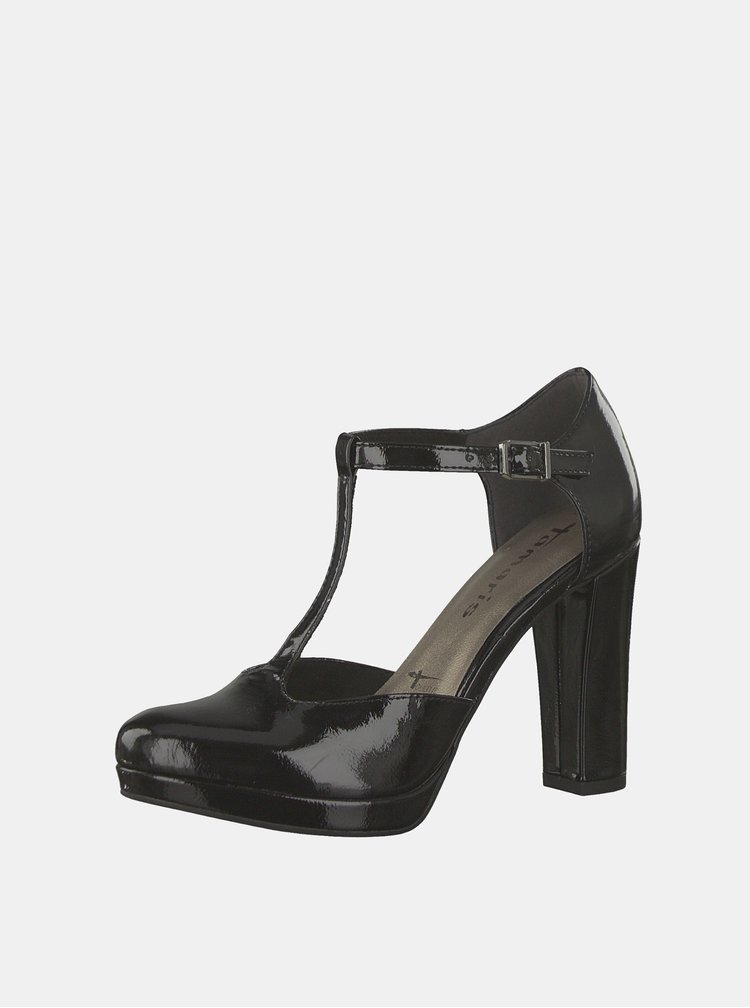 Pantofi negri luciosi Tamaris Lycoris