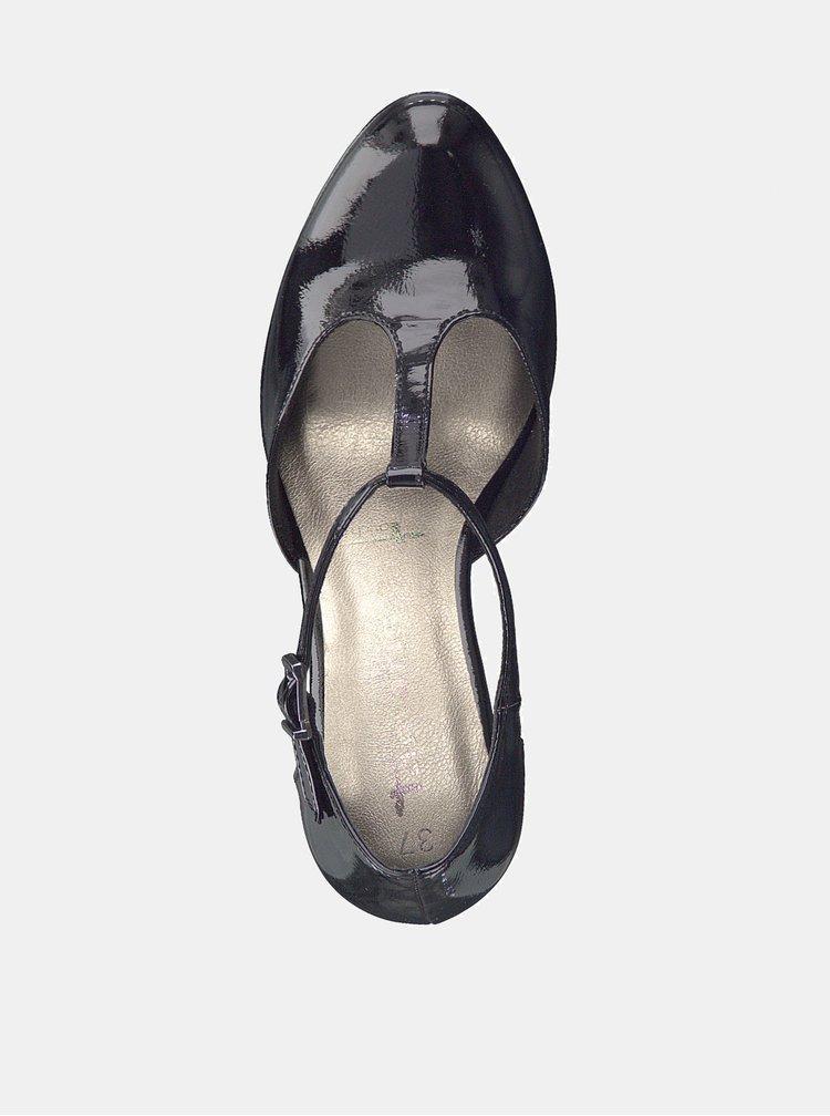 Černé lesklé lodičky Tamaris Lycoris