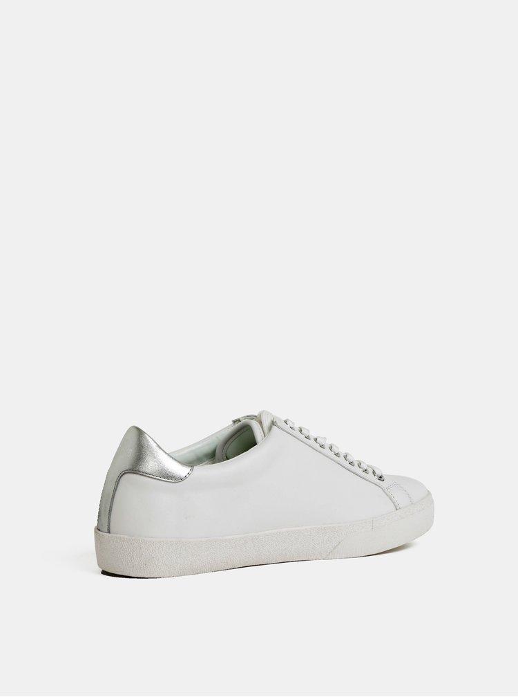 Biele kožené tenisky KARL LAGERFELD Skool