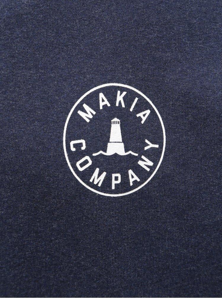 Tmavě modrá pánská mikina Makia Company