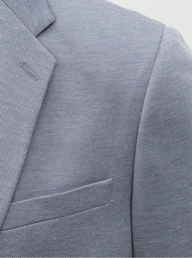 Sacou albastru melanj Burton Menswear London