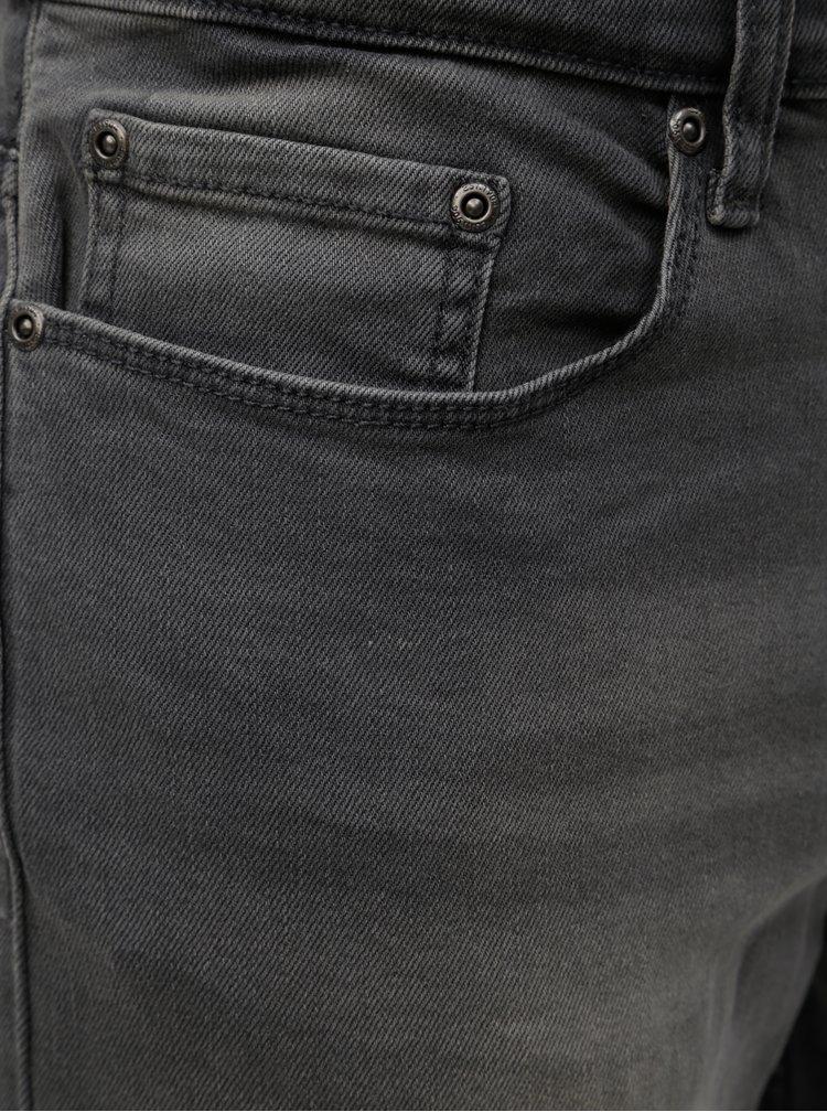 Blugi gri slim fit Burton Menswear London