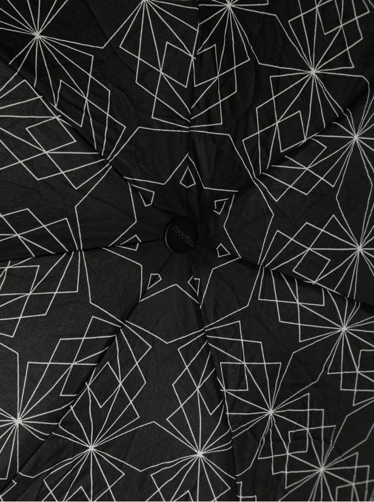Čierny vzorovaný dáždnik Doppler