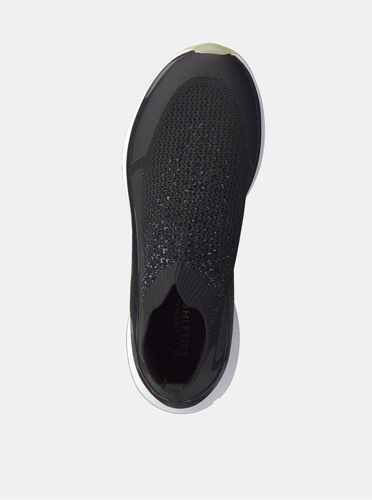 Pantofi sport scurti negri cu pietre Tamaris Mittle