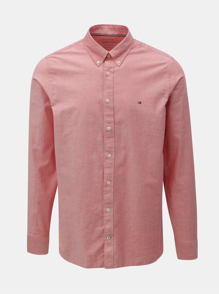 Růžová pánská slim fit košile Tommy Hilfiger