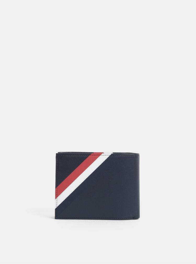 Tmavě modrá pánská kožená peněženka Tommy Hilfiger