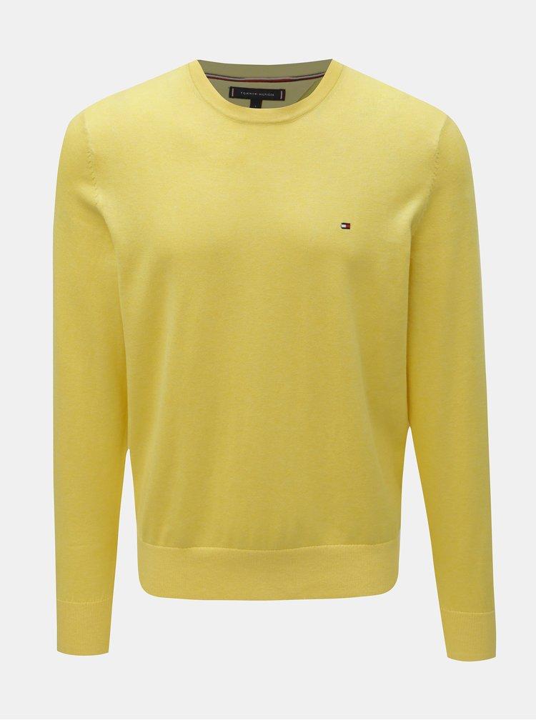 Žlutý pánský svetr s příměsí hedvábí Tommy Hilfiger