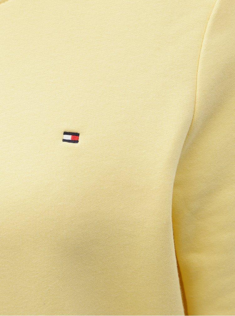 Světle žlutá dámská basic mikina Tommy Hilfiger