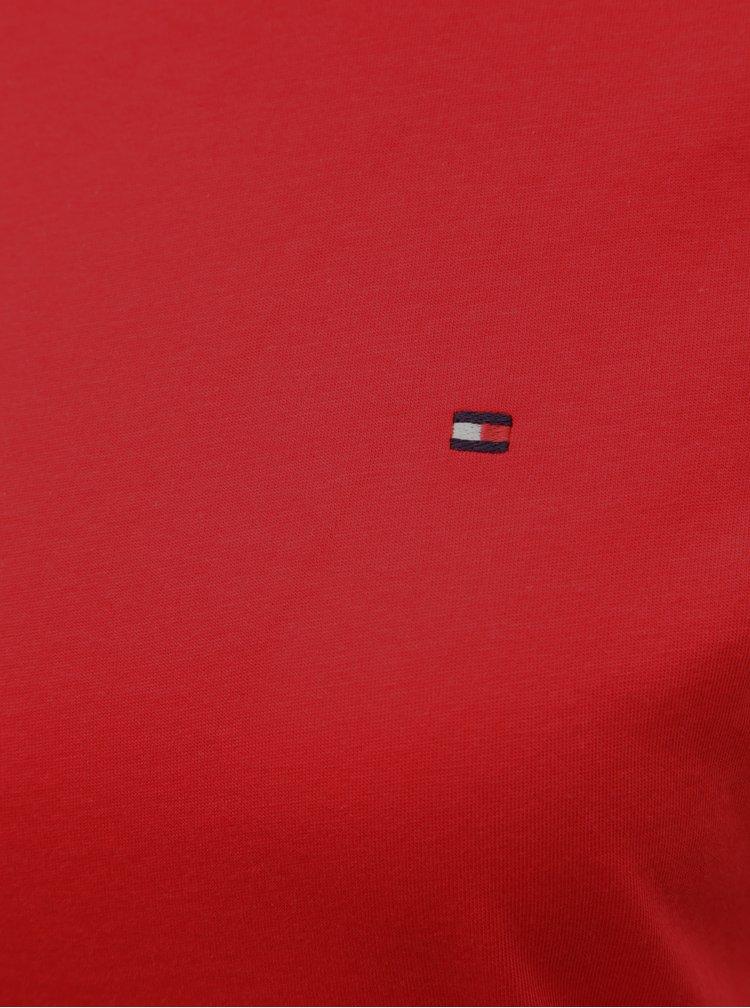 Červené dámské basic tričko Tommy Hilfiger Tessa